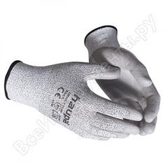 Перчатки с полиуретановым покрытием haupa, 3 степень защиты, серые, р. 10, 1 пара 120302/10