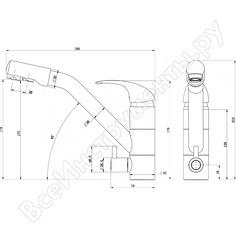 Смеситель paulmark для кухни под фильтр терракот he213017-307