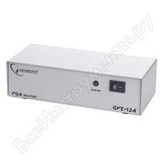 Vga разветвитель cablexpert, hd15f/4x15f, 1 компьютер - 4 монитора, каскадируемый, gvs124