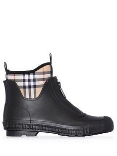 Burberry ботинки Flinton со вставками в клетку Vintage Check