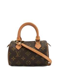 Louis Vuitton мини-сумка Speedy с верхними ручками и ремнем