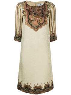 Etro платье-трапеция с узором пейсли