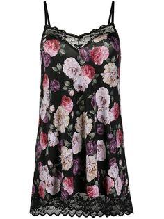 Emporio Armani платье-комбинация с цветочным принтом