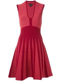 Emporio Armani жаккардовое платье A-силуэта