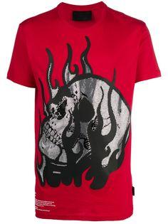 Philipp Plein футболка с круглым вырезом и декором Skull
