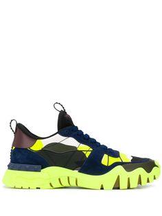 Valentino Garavani кроссовки Rockrunner с камуфляжным узором