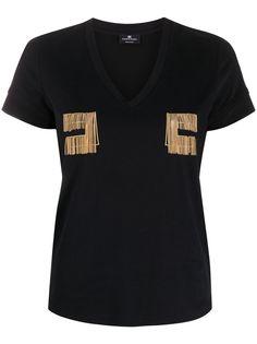 Elisabetta Franchi футболка с вышивкой