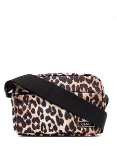 GANNI сумка через плечо Festival с леопардовым принтом