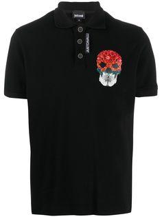 Just Cavalli рубашка поло с принтом