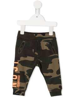 Dsquared2 Kids спортивные брюки с камуфляжным принтом и логотипом