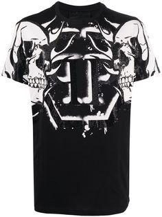 Philipp Plein футболка с круглым вырезом и принтом Skull
