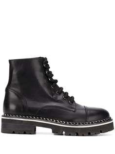 AGL байкерские ботинки на шнуровке