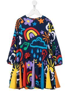 Stella McCartney Kids платье с принтом
