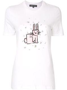Markus Lupfer футболка Bunny с пайетками и кристаллами
