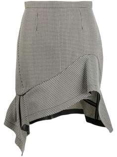 Alexander Wang деконструированная юбка мини в ломаную клетку