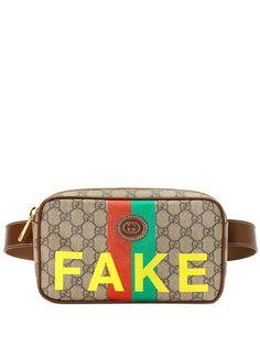 Gucci поясная сумка с принтом Fake/Not
