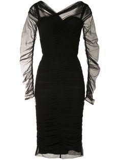 Dolce & Gabbana платье миди со сборками