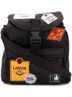 LANVIN рюкзак с нашивкой-логотипом