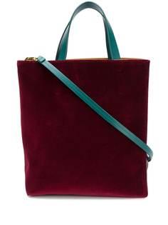 Marni бархатная сумка-тоут Museo