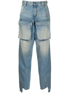 Off-White брюки прямого кроя с карманами