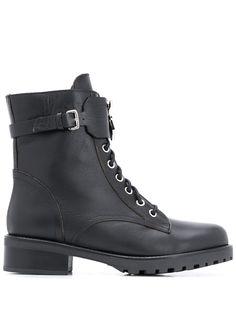 Patrizia Pepe байкерские ботинки Fly на шнуровке