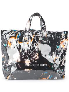 Comme Des Garçons Shirt сумка-тоут с графичным принтом
