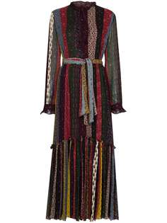 Etro платье макси в полоску