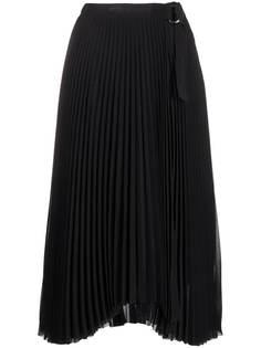 Calvin Klein плиссированная юбка миди с монограммой