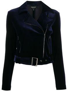 Emporio Armani байкерская куртка со вставками