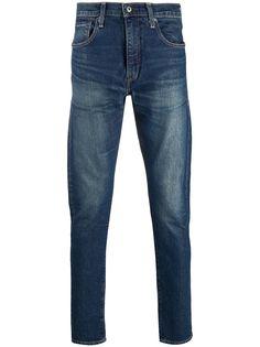 Levis узкие джинсы с эффектом потертости