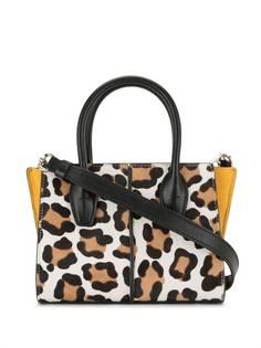 Tods сумка через плечо с леопардовым принтом Tod'S