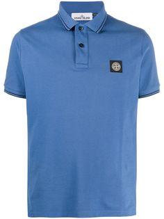 Stone Island рубашка поло с нашивкой-логотипом