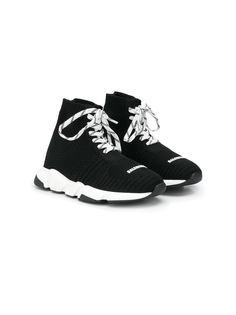 Balenciaga Kids кроссовки Speed на шнуровке