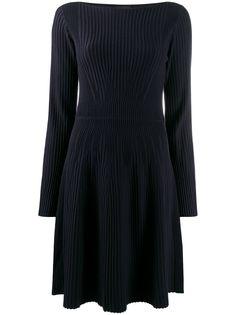 Emporio Armani фактурное платье с длинными рукавами