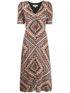 Michael Michael Kors платье миди с геометричным принтом