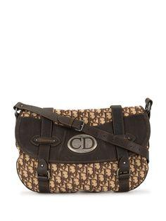 Christian Dior сумка через плечо Vintage Traveler с узором Trotter