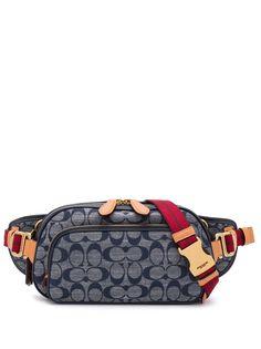 Coach поясная сумка с логотипом