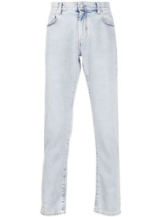 Off-White прямые джинсы из вареного денима