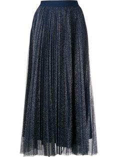 LIU JO плиссированная юбка с блестками