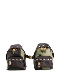Moschino двойной рюкзак с камуфляжным принтом