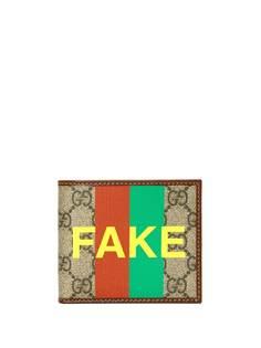 Gucci бумажник с принтом Fake/Not