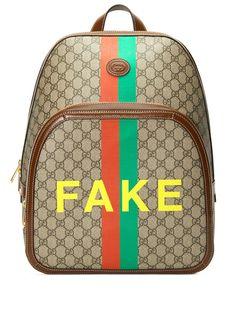 Gucci рюкзак с принтом Fake/Not