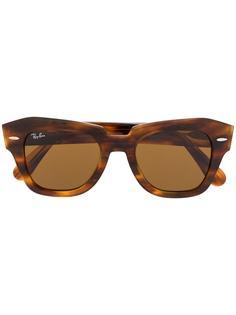 Ray-Ban солнцезащитные очки State Street в прямоугольной оправе