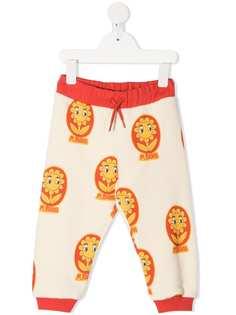 Mini Rodini спортивные брюки с цветочным принтом