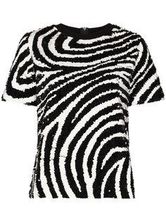 Ashish футболка в полоску с пайетками
