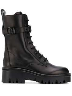 Valentino Garavani ботинки на шнуровке в стиле милитари