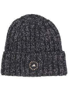 adidas by Stella McCartney шапка бини в рубчик с нашивкой-логотипом