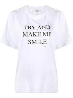 Victoria Victoria Beckham футболка с надписью try and make me smile