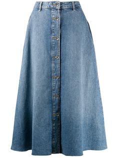 LIU JO джинсовая юбка миди на пуговицах