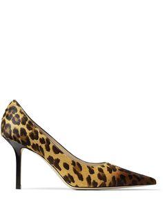 Jimmy Choo туфли-лодочки Love 85 с леопардовым принтом